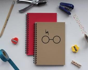 Harry Potter glasses- 5 x 7 journal