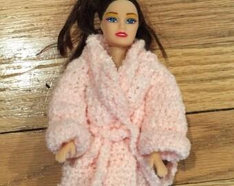 Fashion doll terry robe handmade