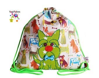 dog Backpack, dog children backpack, dog fabric backpack, scottish terrier Backpack, scottish terrier children backpack, scottish terrier