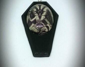 Baphomet Coffin Necklace Large Pendant