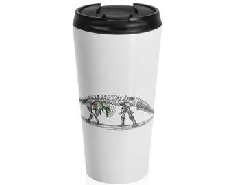 Brachio-Foliage-Saurus Steel Travel Mug