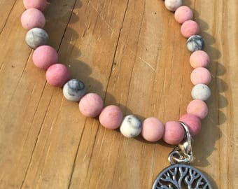 Fertility healing agate and jasper bracelet