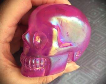 Aura Quartz Skull