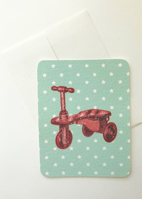 Red Wood Tricycle Card