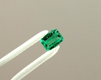 6.5 X 5mm Emerald Cut Natural Colombian Emerald Loose Gemstone