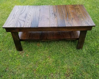 Solid Wood Coffee Table Coffee Table Rustic Furniture Rustic Cabin Furniture Side