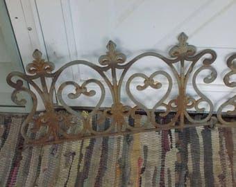c-antique iron garden fence