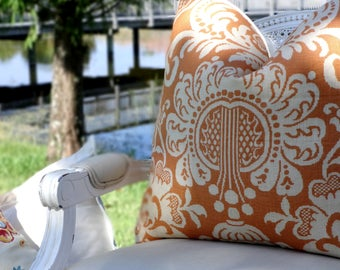 Vervain Trocodero Linen Pillow Cover/ 20x20 Pillow Cover/ Designer Custom Pillow Cover/ Throw Accent Pillow Cover/ Piped Pillow