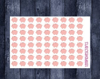 Weekend Sale Pink Piggy Bank Stickers