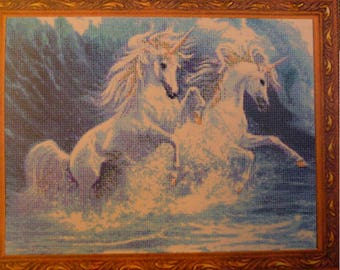 kustom krafts needleworks ocean unicorns SLO-002