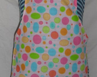 Pink Multi-colored Circle toddler Apron