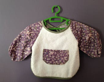 fabric bib Terry cloth and floral cotton fabric