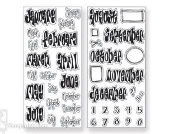 Dylusions by Dyan Reaveley - Creative DYARY - DYE56713 Stamp set w acrylic block cc02
