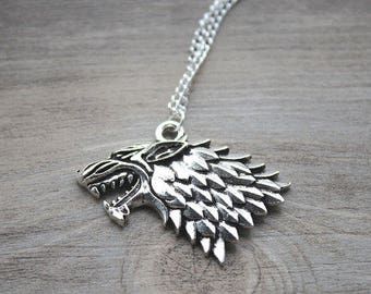 game of thrones wolf wolves necklace