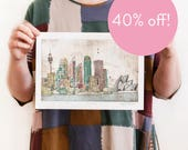 40% OFF! Sydney - Reproduction of an Original Artwork - A4