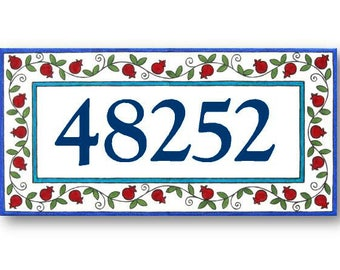 Address Plaque, Address Numbers, House Numbers Plaque, House Numbers, Ceramic Sign