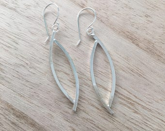 Large Overlapping Oval Earrings