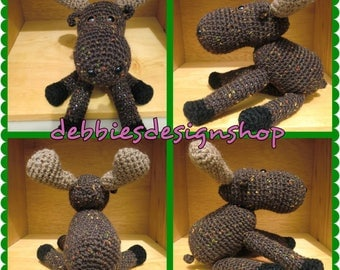 Marty Moose Stuffed Animal - Crocheted - Made to Order