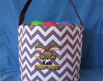Personalized Easter Basket, Personalized Easter Bucket, Girls Easter Basket, Religious Basket, Easter Bucket, Monogrammed Easter Basket