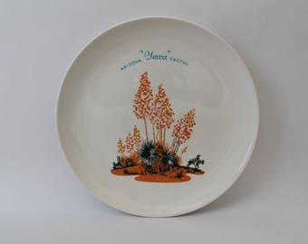 "Vintage 1950s Arizona Cactus Dinnerware ""Yucca"" 10"" Dinner Plate"