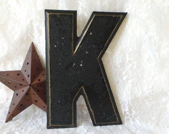 Metal Initial K, Vintage Letter K, Industrial Letter K, Theatre Letters, Marquee Letters, Marquee Letter K,  Wagner Letters, Wagner Sign