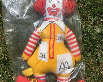 Vintage Ronald McDonald Plush Doll MINT ~ Still in Original Bag!