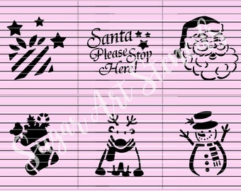 Christmas cookie stencils set of 6  SL20175