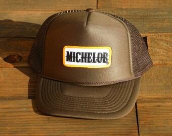 Vintage Michelob Beer Mesh Snapback Hat