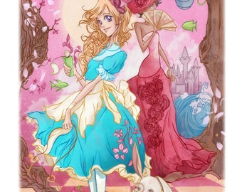 Alice, the white rabbit, the red queen and the Cheshire Cat from alice in wonderland