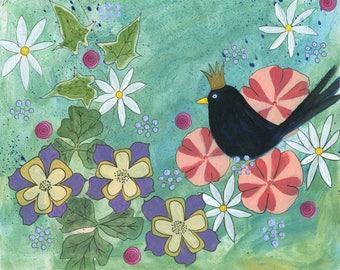 greeting card/small art print of a mixed media painting