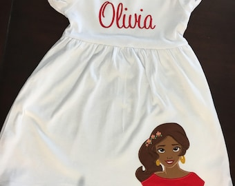 Personalized Princess Dress with Monogram