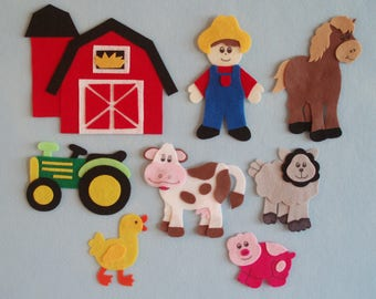 Old McDonald's Farm Felt Board Story/Felt Farm Set/Flannel Board Stories/Farm Theme/Teaching Resource/Felt Farm Animals/Felt Board Sets