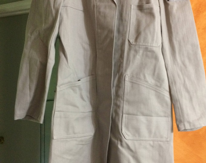 Hunger Games Costume, District 2, Light Grey Canvas Coat