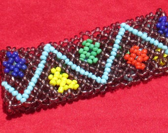 Retro Colorful Woven Beaded Stretch Bracelet