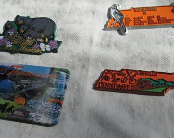 Lot Of Retro Tennessee  Souvenir  Refrigerator Magnets