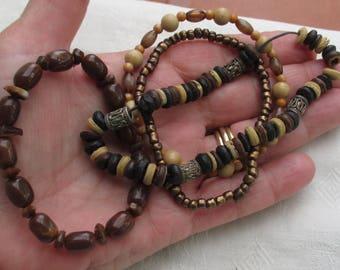 Lot Of Retro Boho Beaded Stretch Bracelets Restring Repurpose