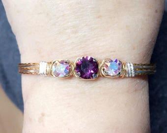 February with ab stones bracelet