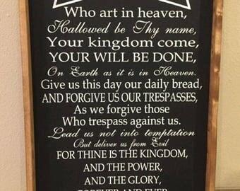 The Lord's Prayer - Single Use Vinyl Stencil