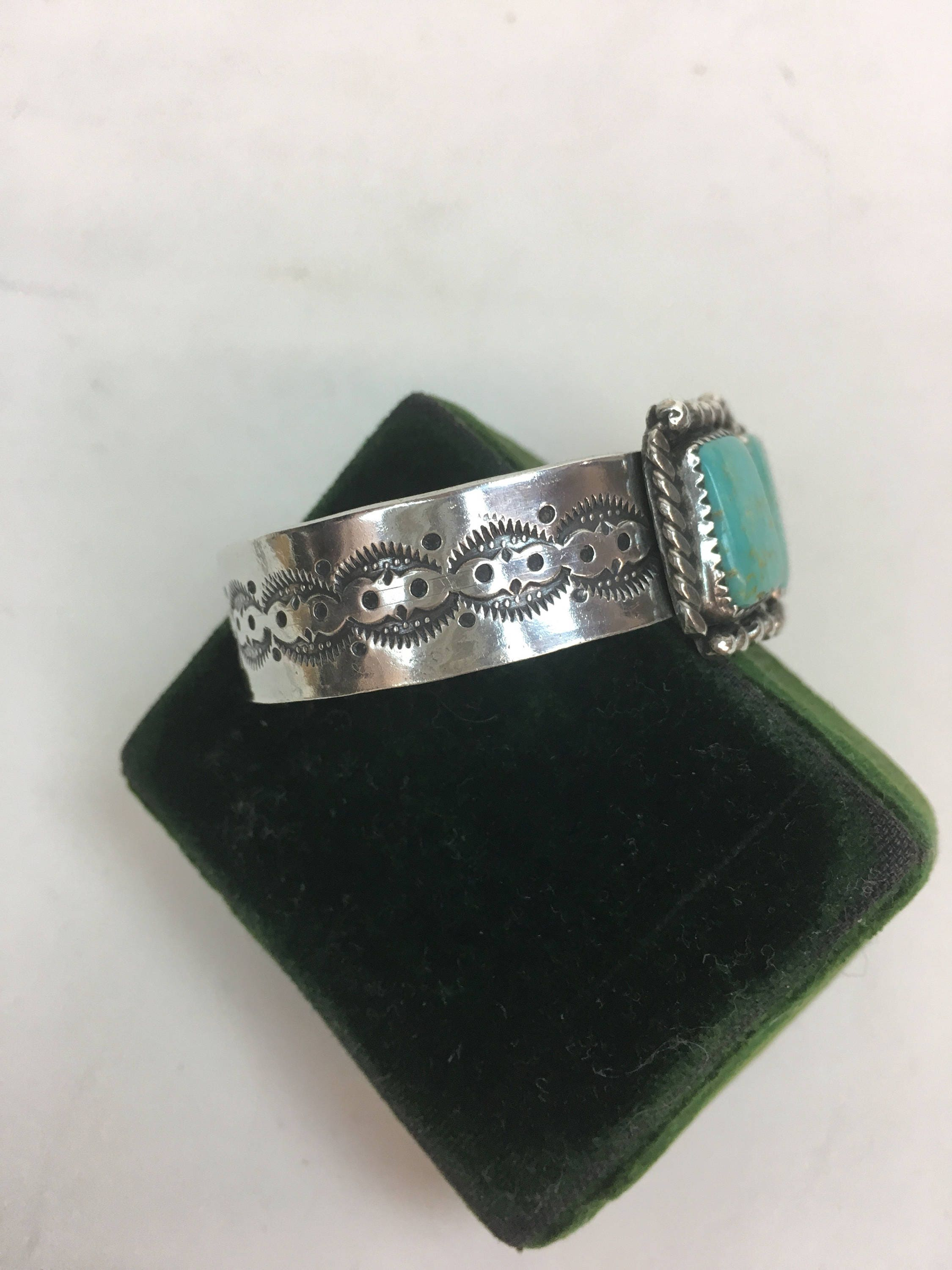 pin navajo sterling mountain martinez leon pre bracelet american turquoise native silver