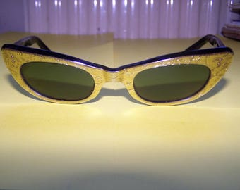LUNETTE Soleil gold - Eye Cat - authentic 50