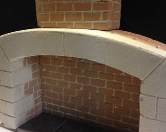 Dolls House Fireplace. 1:12 Scale. Totally hand crafted and unique OOAK. Real Welsh Slate Hearth.