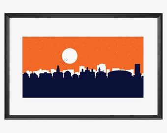 Syracuse Skyline, Syracuse NY, Syracuse art, Syracuse print, Syracuse poster, Syracuse University
