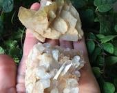 Barite and quartz specimen