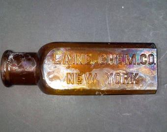 Antique Bottle Laine Chemical Co. New York