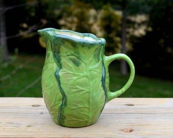 Green Leafy Vegetable Speckled Inside Creamer