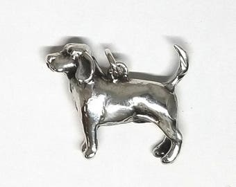 Sterling Silver Beagle Dog Pendant