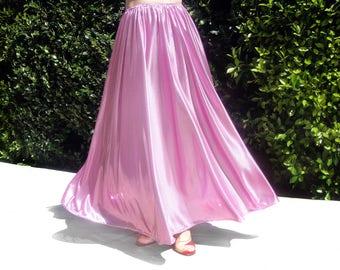Ameynra fashion sparkling pink skirt, size M, New