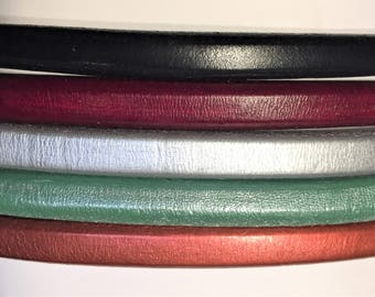 "Shorts: 5 Strands licorice leather bundle, 6"" each, Colors as shown, #4 bundle"