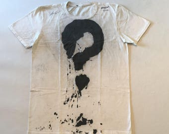 Hand-Painted T-Shirt (QUESTION MARK)