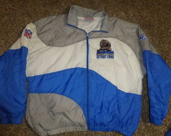 Vtg Detroit Lions Authentic Pro Line Apex One NFL Jacket Sz Men's XL